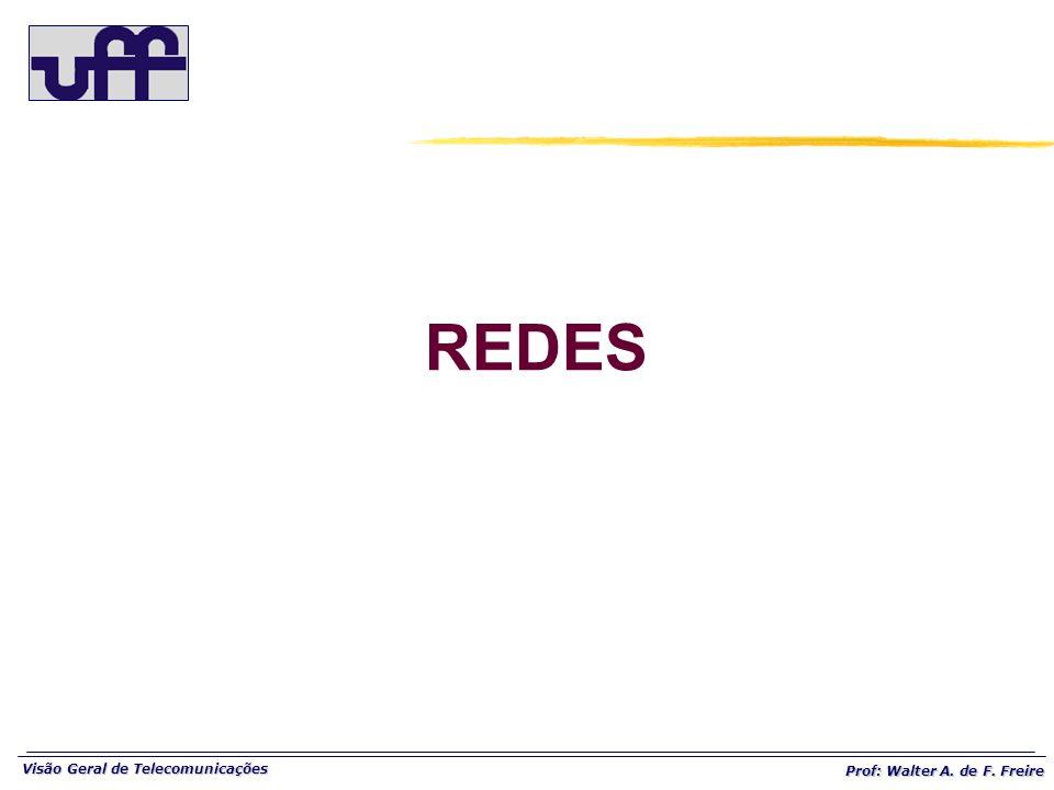 Visão Geral de Telecomunicações Prof: Walter A. de F. Freire REDES