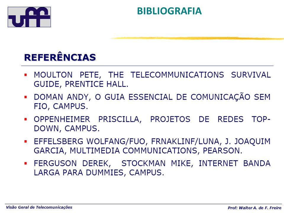 Visão Geral de Telecomunicações Prof: Walter A. de F. Freire BIBLIOGRAFIA