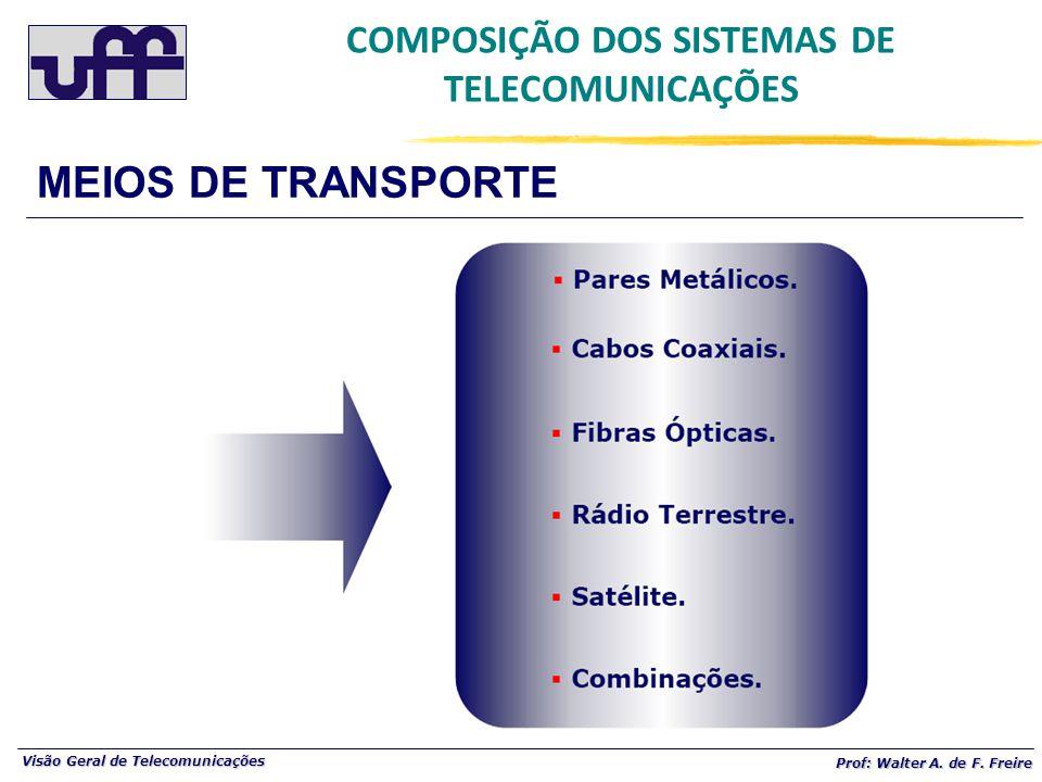 Visão Geral de Telecomunicações Prof: Walter A.de F.