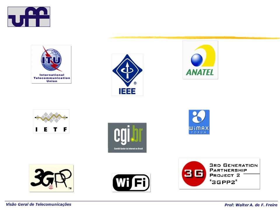 Visão Geral de Telecomunicações Prof: Walter A. de F. Freire