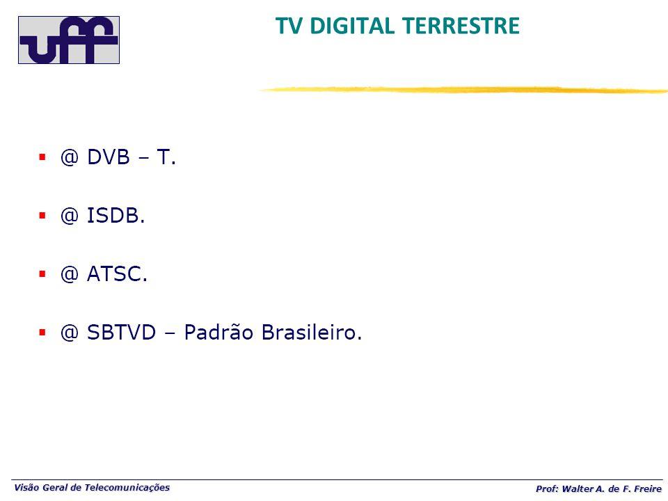 Visão Geral de Telecomunicações Prof: Walter A. de F. Freire TV DIGITAL TERRESTRE