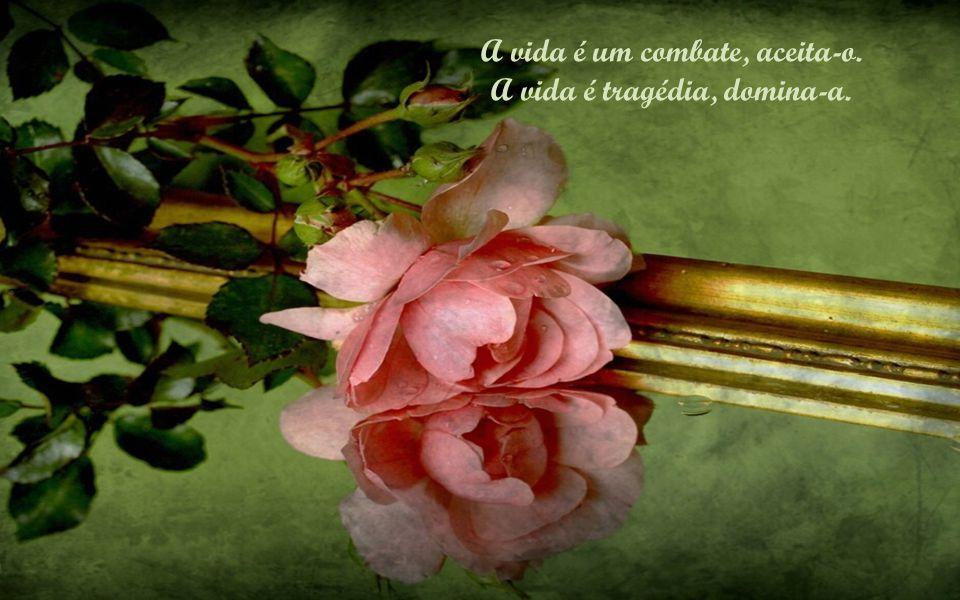 A vida é tristeza, supera-a. A vida é um hino, canta-o.