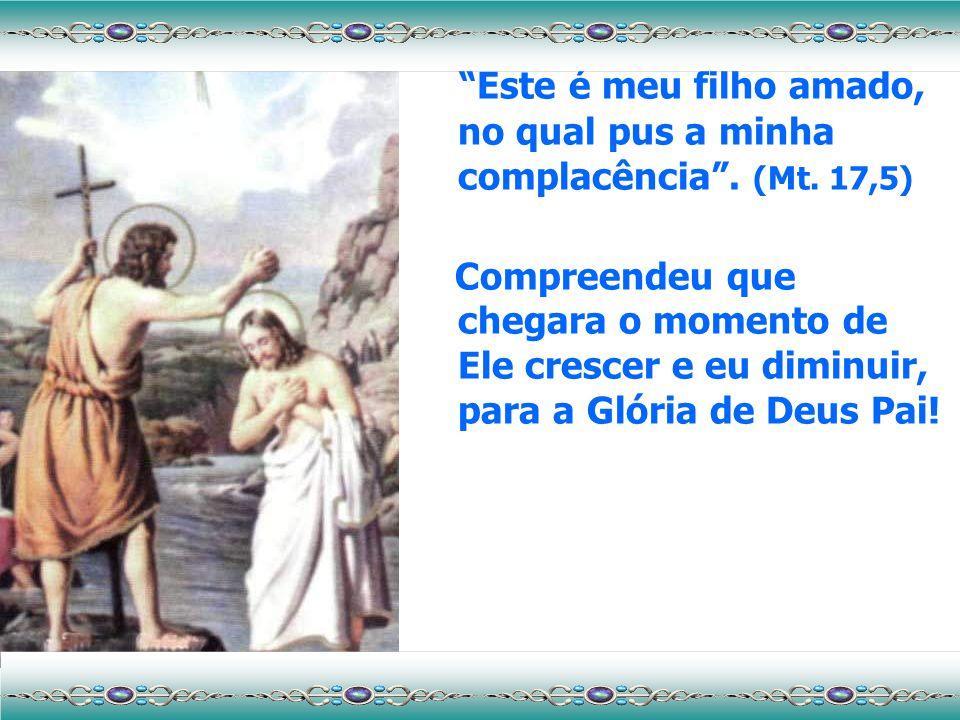 João Batista Para João Batista Jesus nasceu no instante em que chegando ao Rio Jordão, pediu-lhe que o batizasse. E, ante a meiguice de seu olhar e a