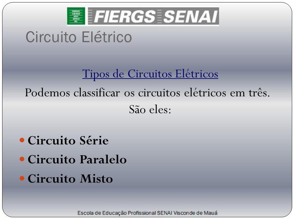 Circuito Elétrico Tipos de Circuitos Elétricos Podemos classificar os circuitos elétricos em três. São eles:  Circuito Série  Circuito Paralelo  Ci