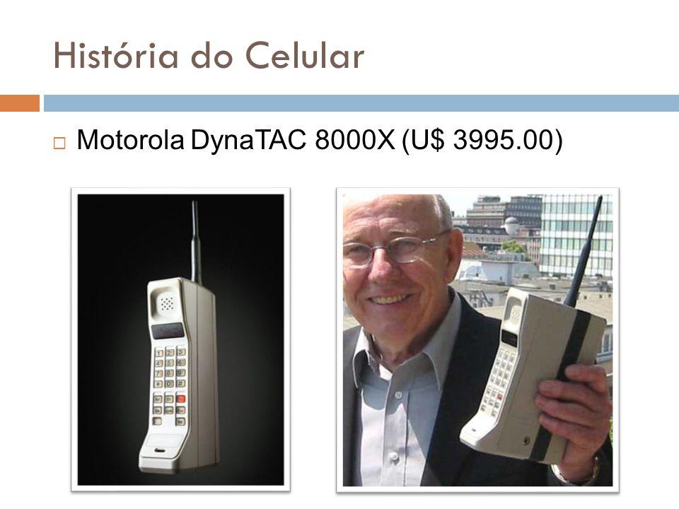 História do Celular  Motorola DynaTAC 8000X (U$ 3995.00)