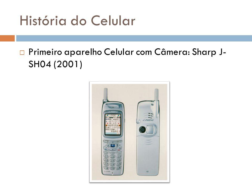 História do Celular  Primeiro aparelho Celular com Câmera: Sharp J- SH04 (2001)