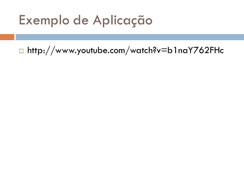 Exemplo de Aplicação  http://www.youtube.com/watch?v=b1naY762FHc