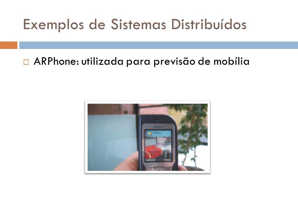 Exemplos de Sistemas Distribuídos  ARPhone: utilizada para previsão de mobília