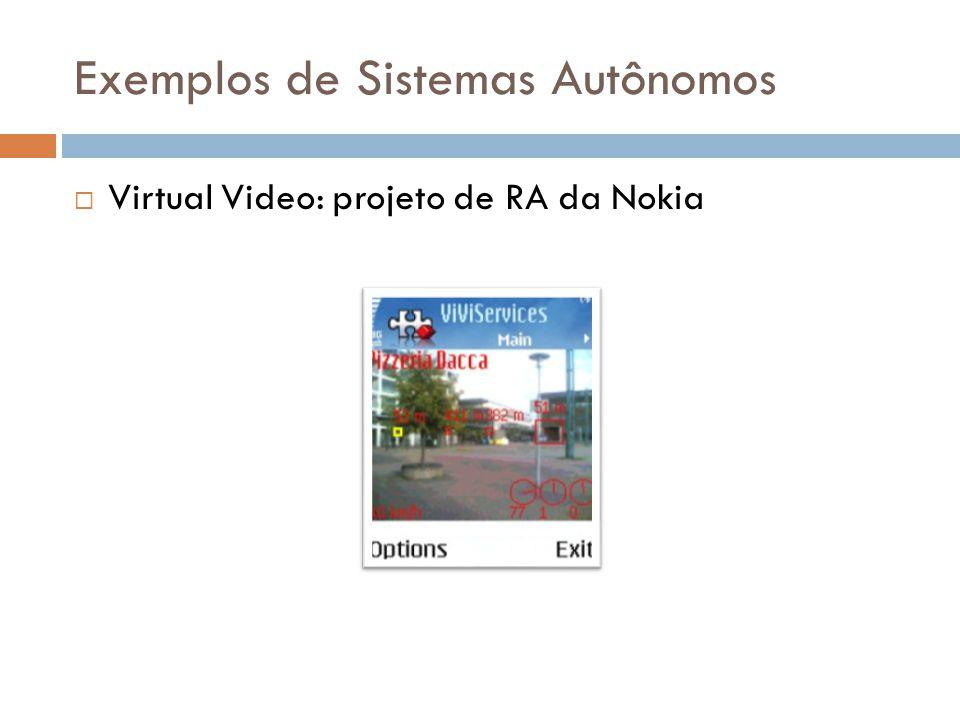 Exemplos de Sistemas Autônomos  Virtual Video: projeto de RA da Nokia