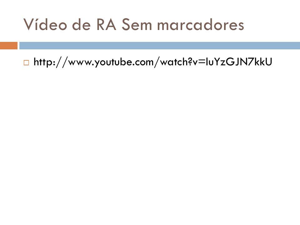 Vídeo de RA Sem marcadores  http://www.youtube.com/watch?v=luYzGJN7kkU