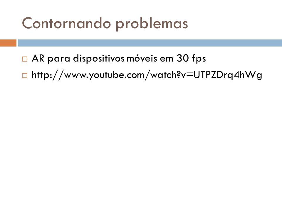 Contornando problemas  AR para dispositivos móveis em 30 fps  http://www.youtube.com/watch?v=UTPZDrq4hWg