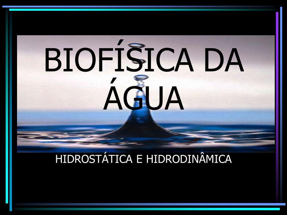 BIOFÍSICA DA ÁGUA HIDROSTÁTICA E HIDRODINÂMICA