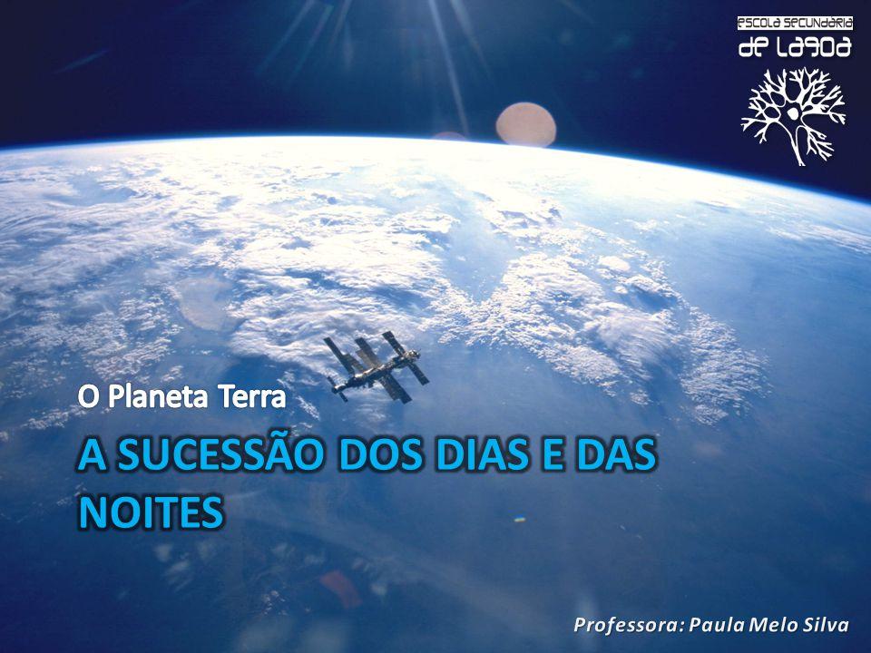 A sucessão dos dias e das noites está associada ao movimento de rotação da Terra.