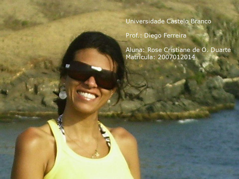 Universidade Castelo Branco Prof.: Diego Ferreira Aluna: Rose Cristiane de O. Duarte Matrícula: 2007012014