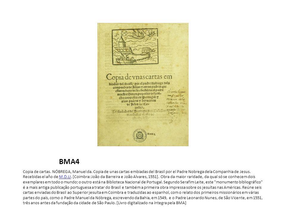 BMA4 Copia de cartas.NÓBREGA, Manuel da.