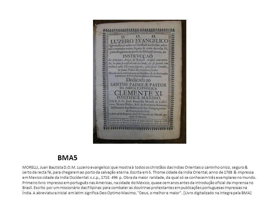 BMA5 MORELLI, Juan Bautista D.O.M.