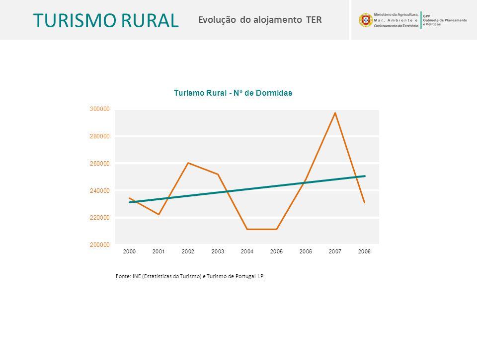 TURISMO RURAL Evolução do alojamento TER