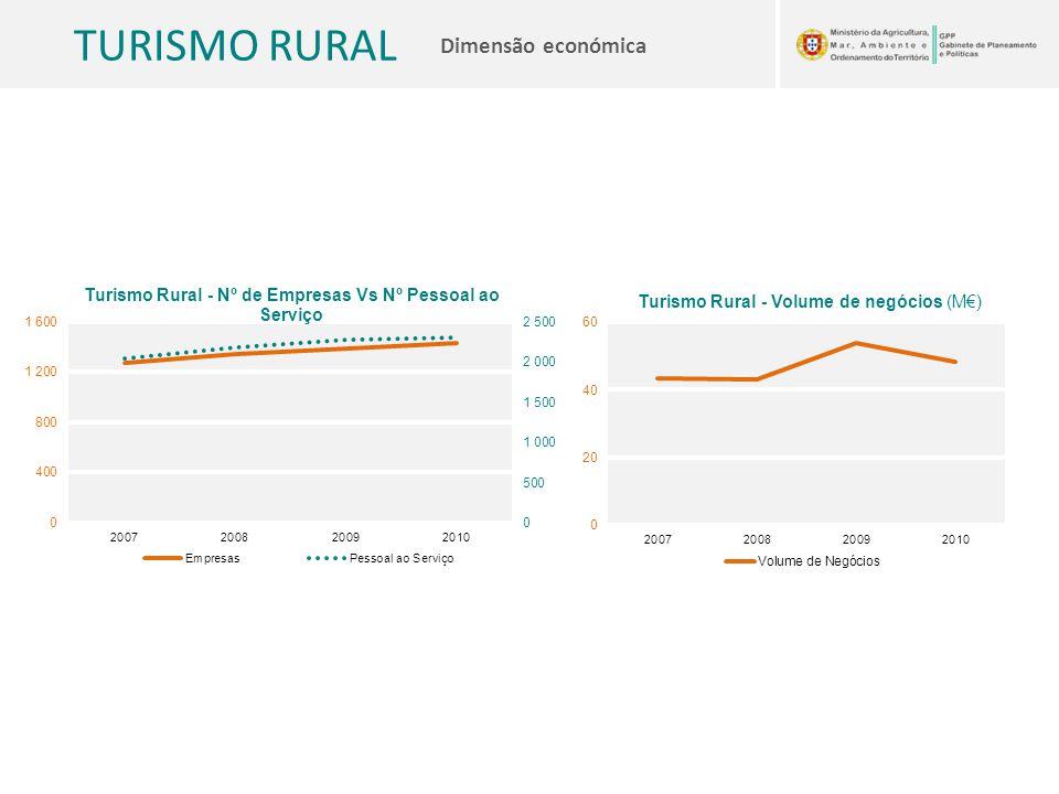 TURISMO RURAL Dimensão económica