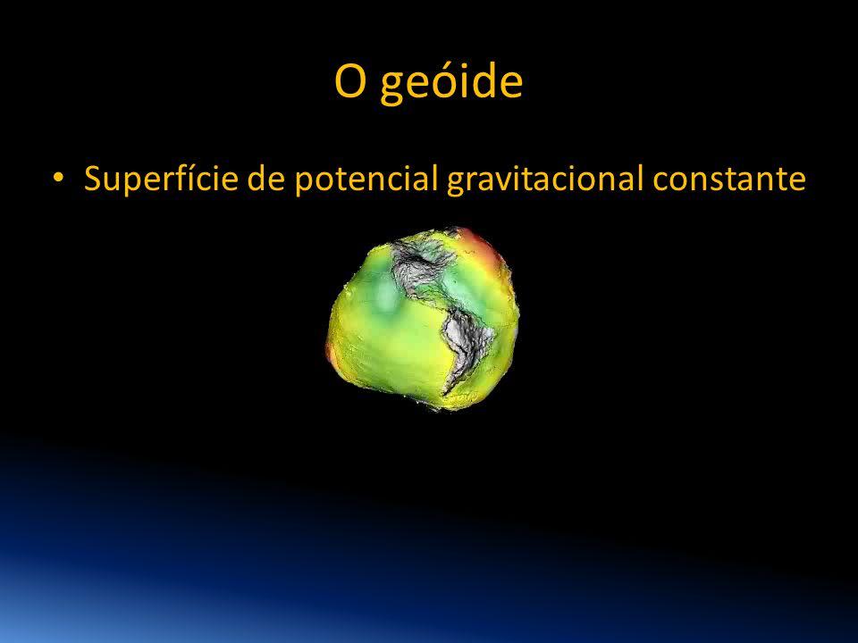 O geóide • Superfície de potencial gravitacional constante