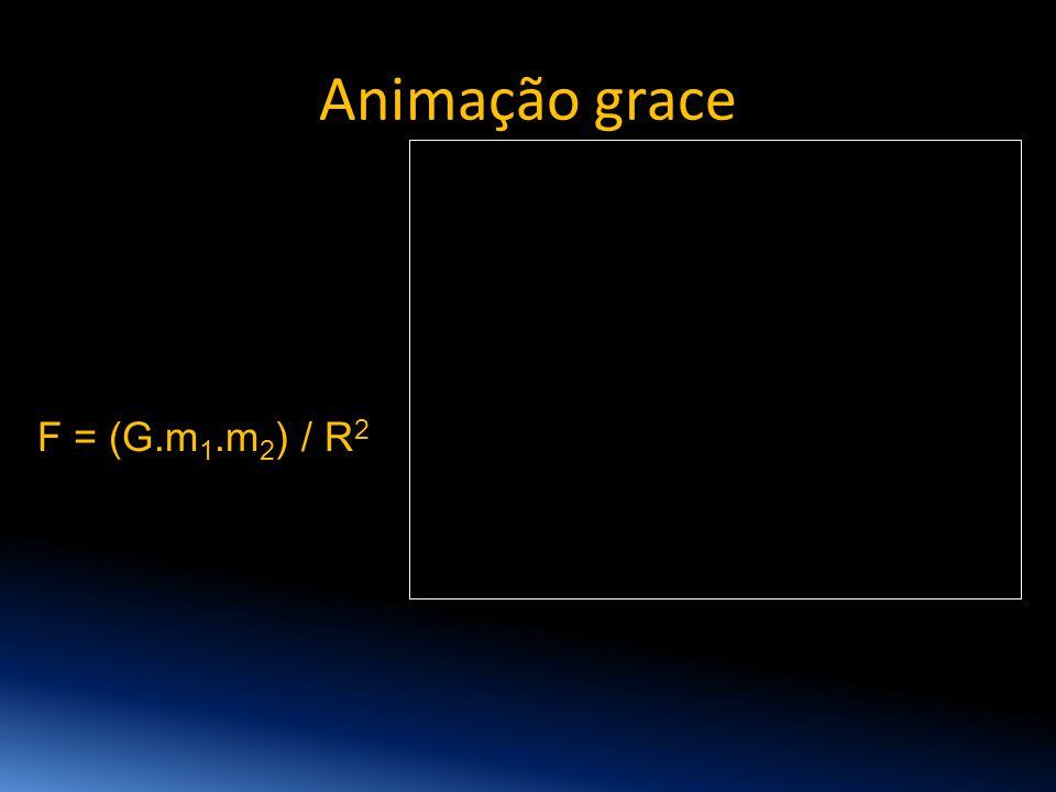 Animação grace F = (G.m 1.m 2 ) / R 2