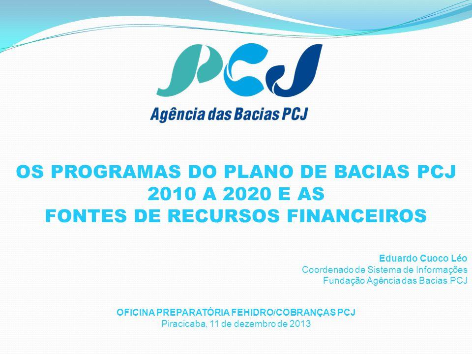 1. OS PROGRAMAS DO PLANO DE BACIAS