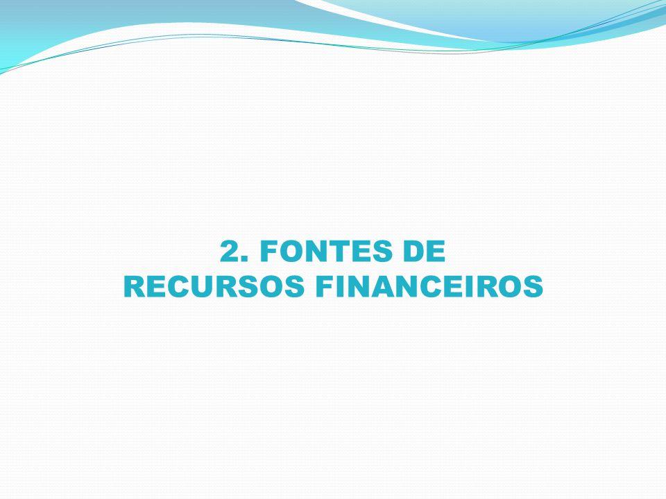 2. FONTES DE RECURSOS FINANCEIROS