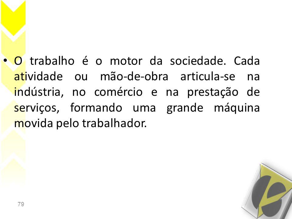 79 • O trabalho é o motor da sociedade.