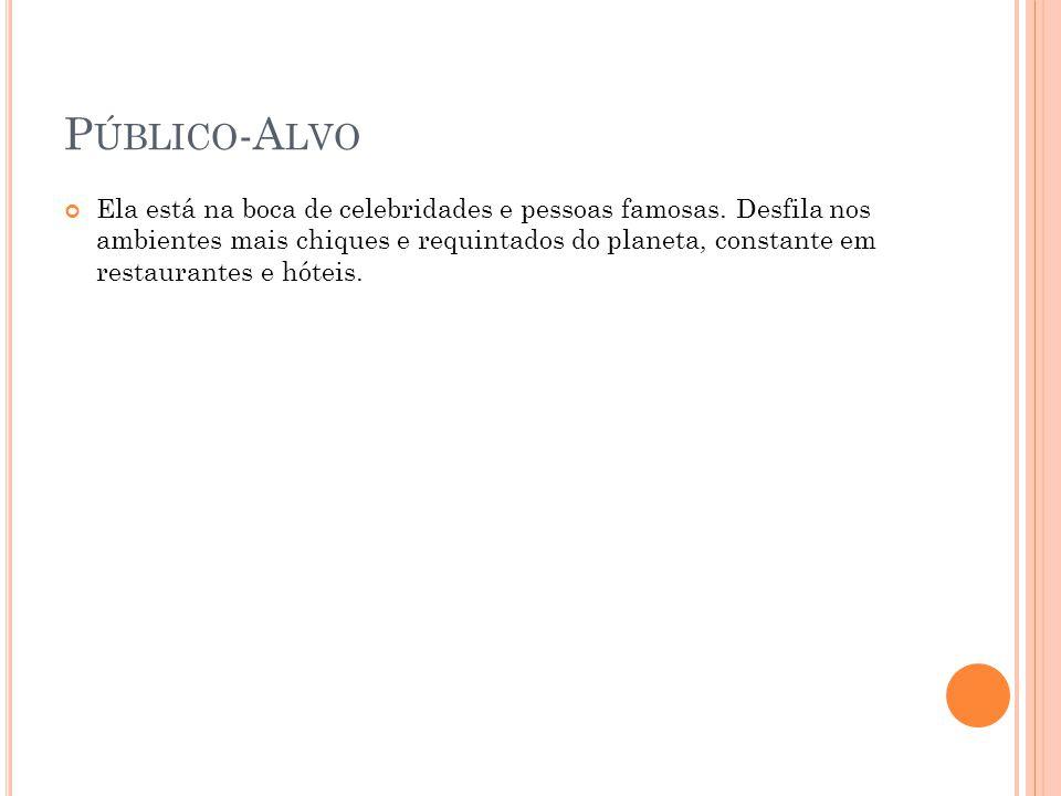 P ÚBLICO -A LVO Ela está na boca de celebridades e pessoas famosas.