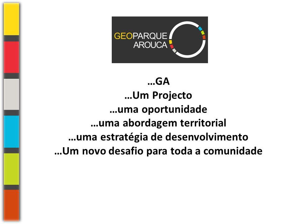 …GA …Um Projecto …uma oportunidade …uma abordagem territorial …uma estratégia de desenvolvimento …Um novo desafio para toda a comunidade