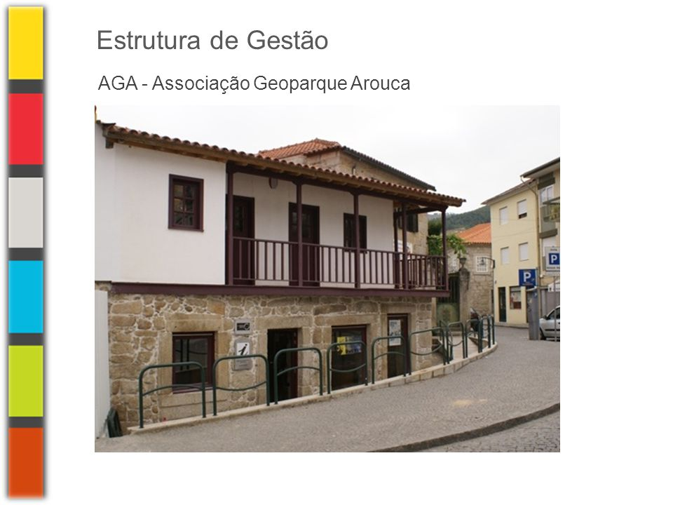 AGA - Associação Geoparque Arouca Estratégia de Desenvolvimento Caracterização do território Análise SWOT MEL - Matriz de enquadramento Lógico Estratégia Metodologia e Estrutura do Plano estratégico Visão Objectivo Geral Plano de AcçãoObjectivos específicos