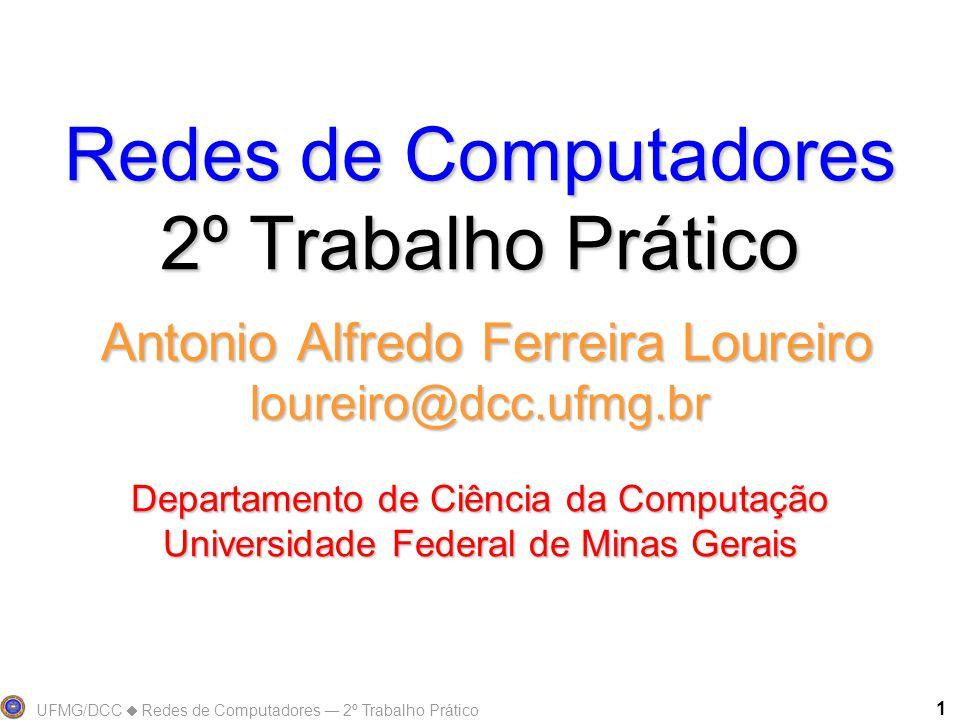 UFMG/DCC  Redes de Computadores ― 2º Trabalho Prático 1 Redes de Computadores 2º Trabalho Prático Antonio Alfredo Ferreira Loureiro loureiro@dcc.ufmg