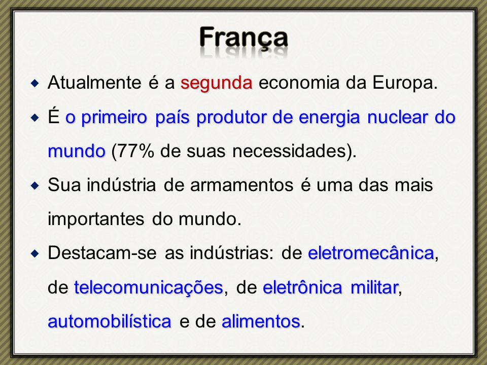 segunda  Atualmente é a segunda economia da Europa.