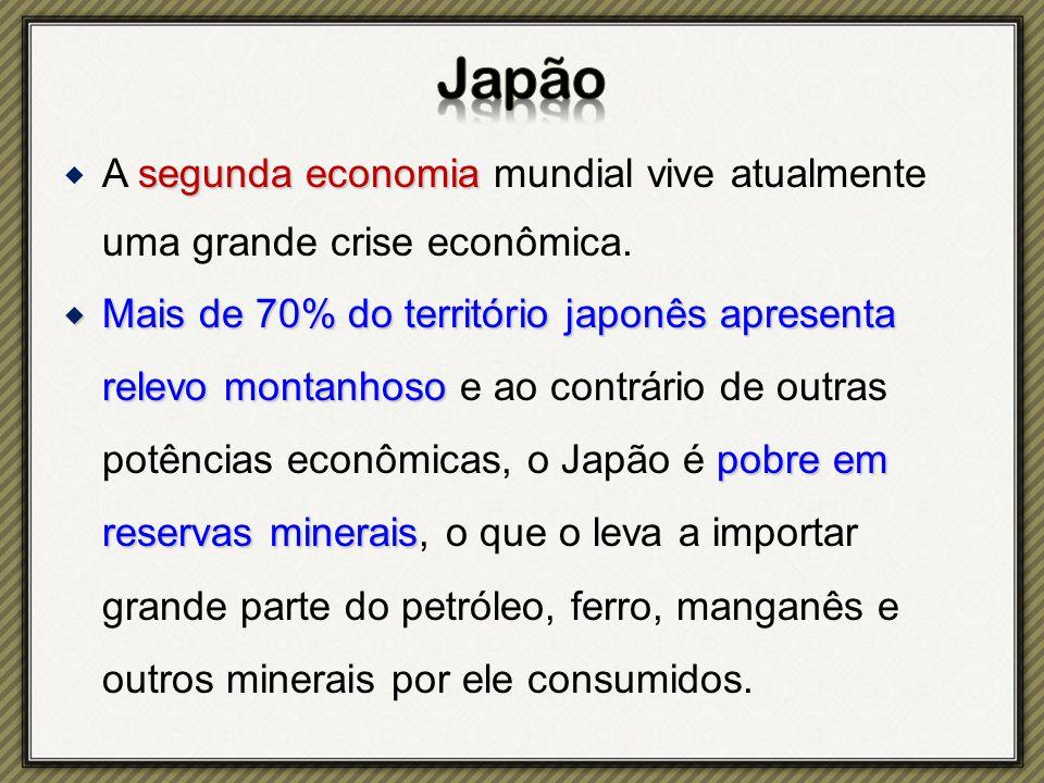 segunda economia  A segunda economia mundial vive atualmente uma grande crise econômica.