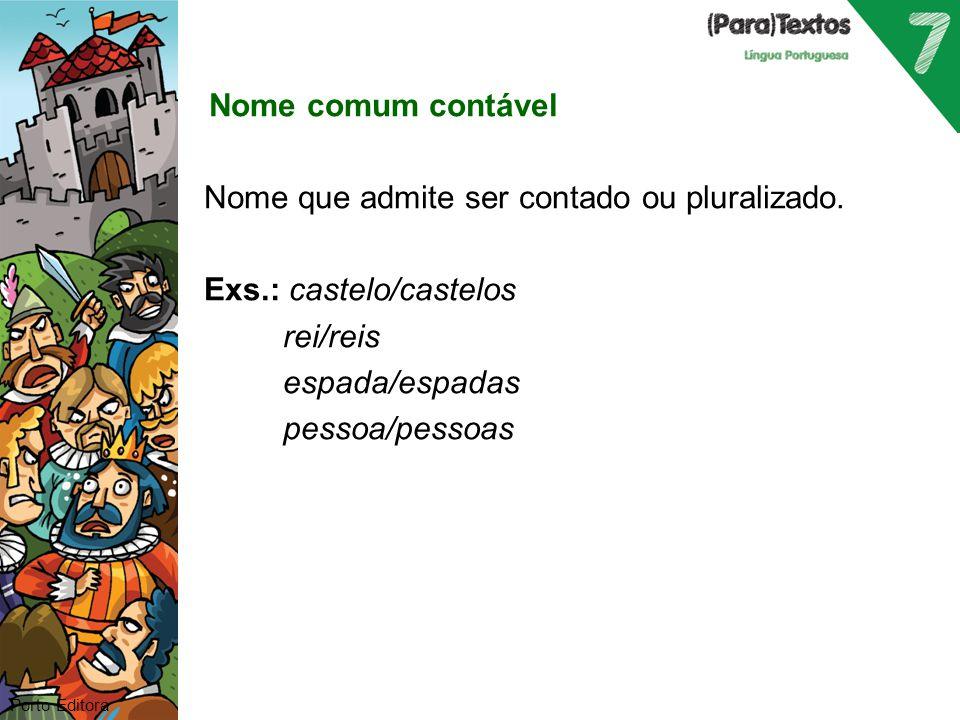 Nome comum coletivo contável Nome que, no singular, designa um conjunto de seres ou objetos da mesma espécie e que admite ser contado ou pluralizado.