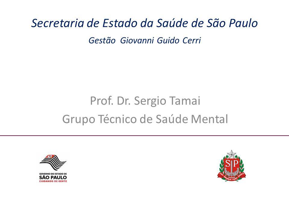Secretaria de Estado da Saúde de São Paulo Gestão Giovanni Guido Cerri Prof.