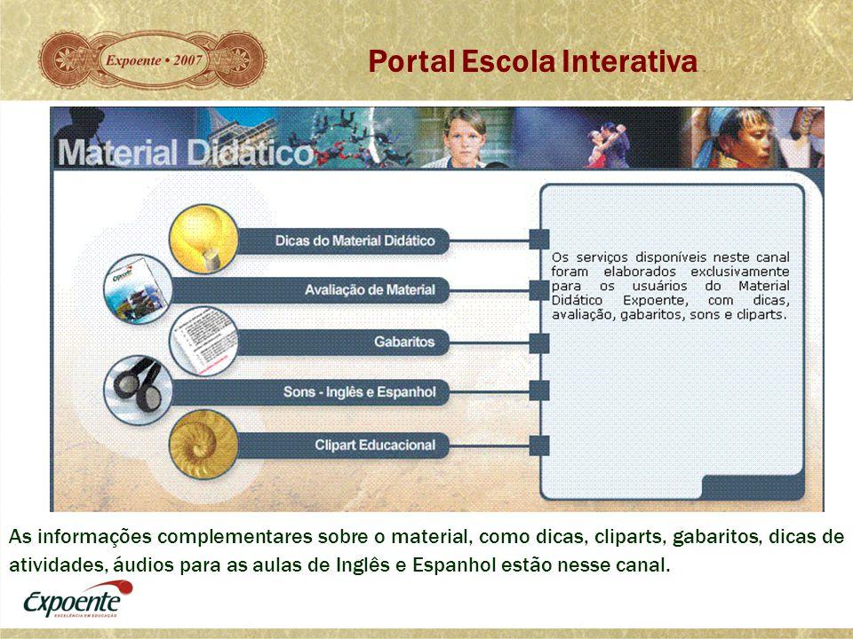 As informações complementares sobre o material, como dicas, cliparts, gabaritos, dicas de atividades, áudios para as aulas de Inglês e Espanhol estão
