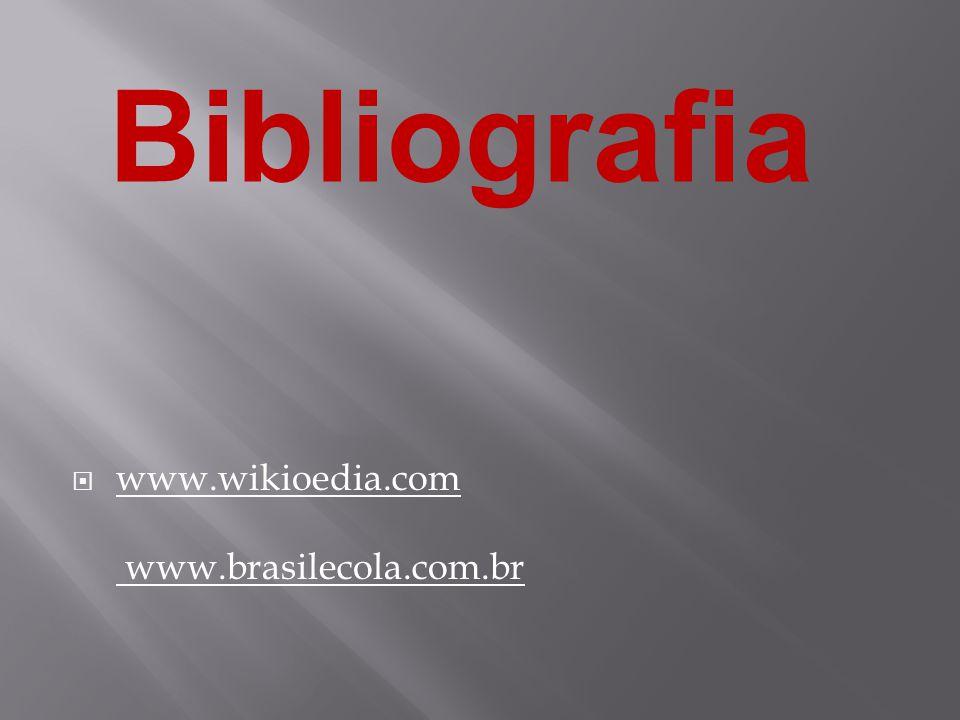  www.wikioedia.com www.brasilecola.com.br Bibliografia
