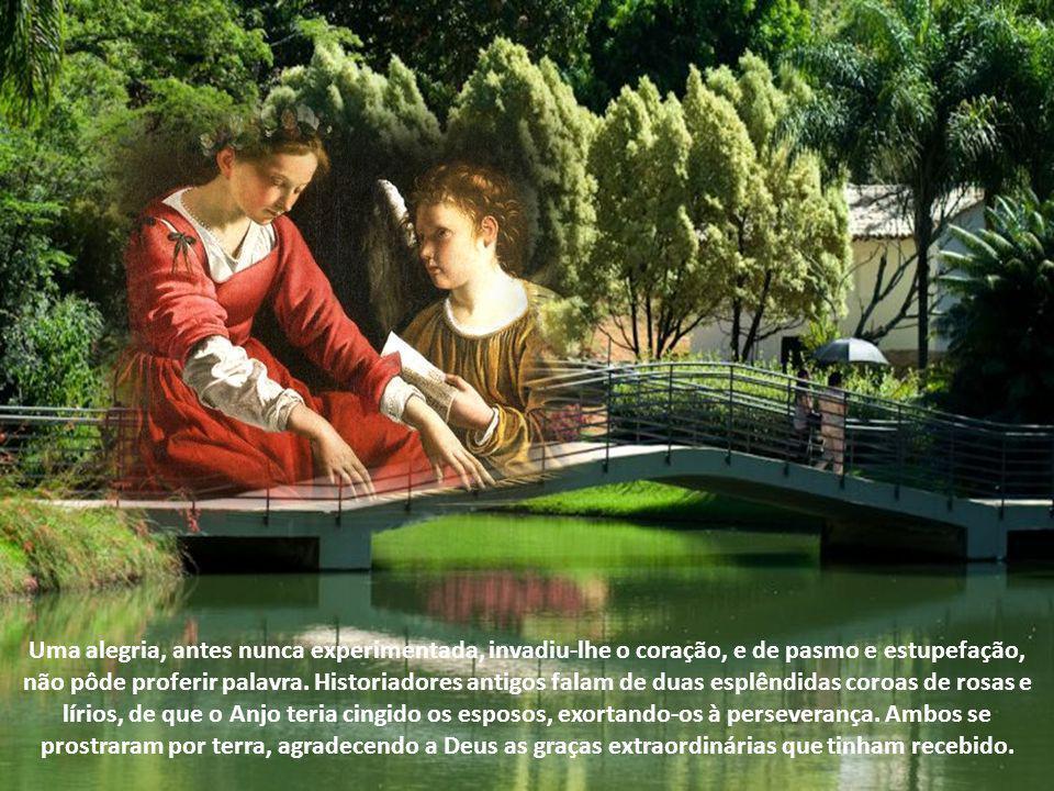 O jovem não opôs a mínima resistência e pediu à noiva proporcionasse-lhe ocasião de ser batizado. Cecília fê-lo dirigir-se ao Papa Urbano, o qual bond
