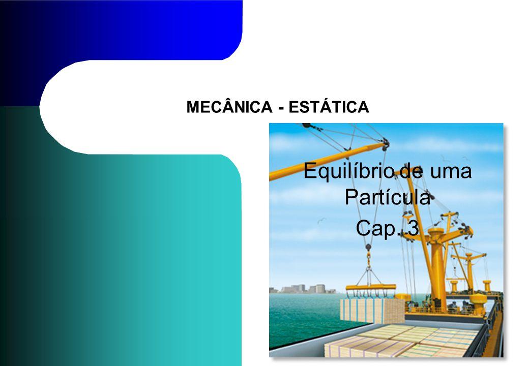 MECÂNICA - ESTÁTICA Equilíbrio de uma Partícula Cap. 3