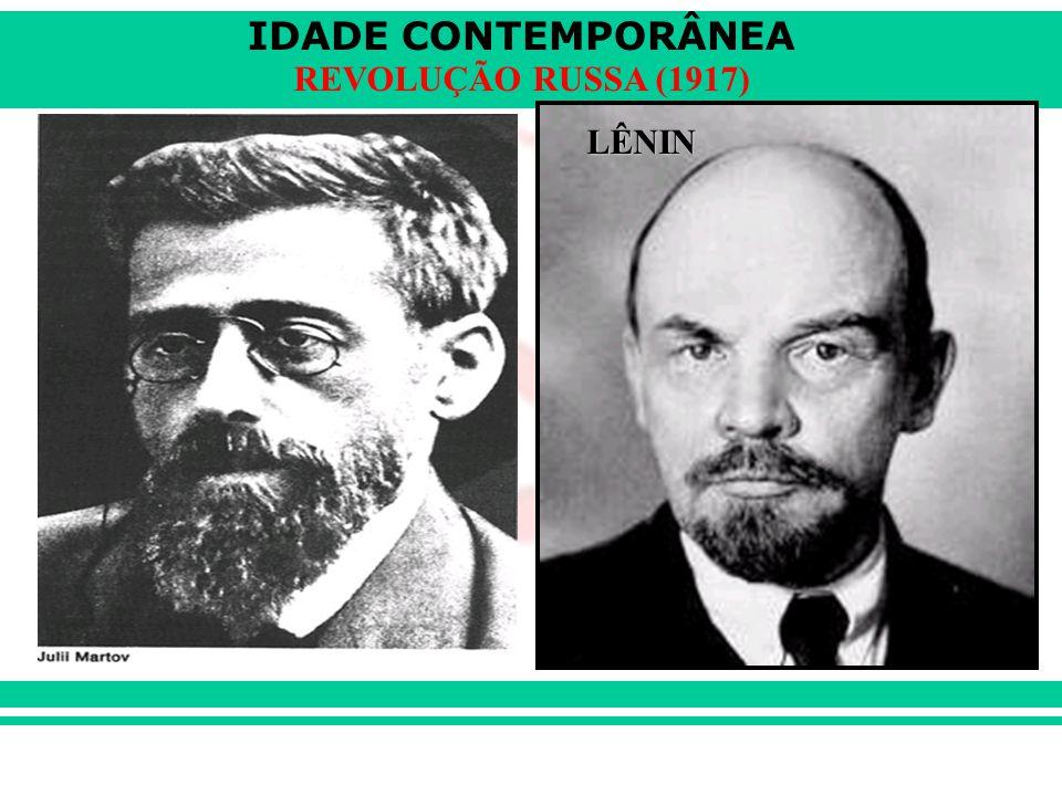 IDADE CONTEMPORÂNEA REVOLUÇÃO RUSSA (1917) LÊNIN