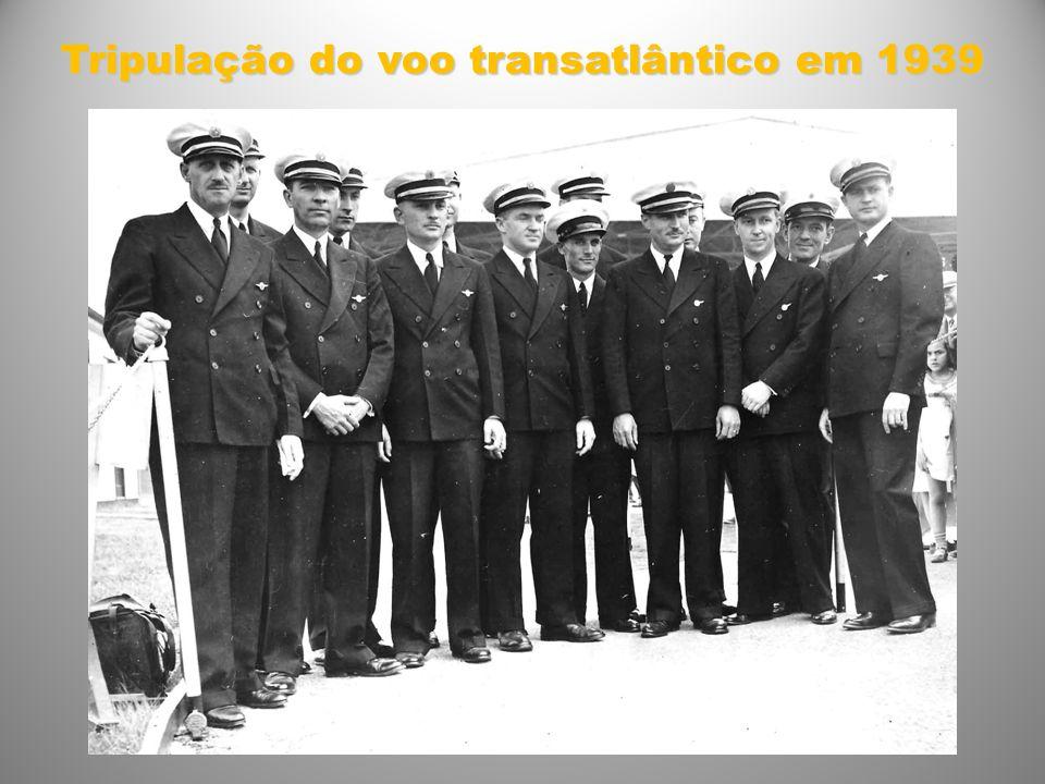 Tripulação do voo transatlântico em 1939