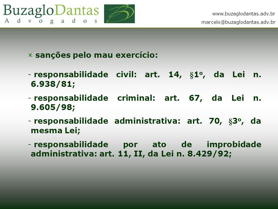 www.buzaglodantas.adv.br marcelo@buzaglodantas.adv.br  sanções pelo mau exercício: - responsabilidade civil: art.