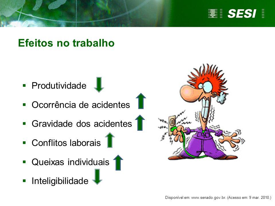 Efeitos de natureza psicológica  Irritabilidade  Apatia  Mau-humor  Medo  Insônias Disponível em: http://reflitasempre.blogspot.com.