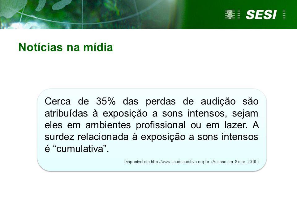 A poluição sonora já ocupa a terceira prioridade entre as doenças ocupacionais, no Estado de São Paulo.