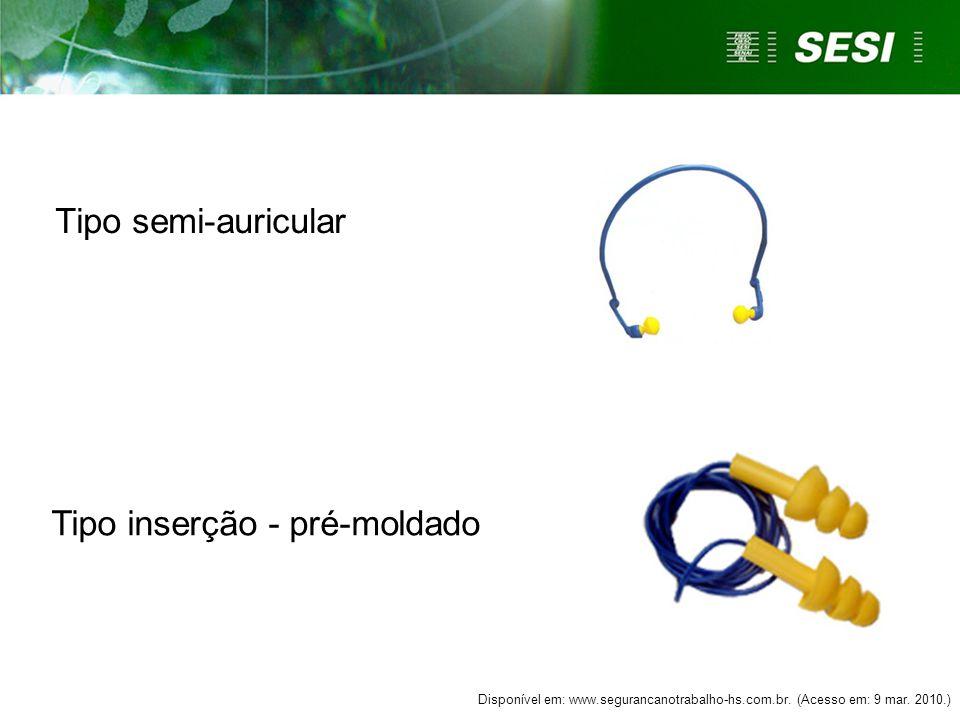 Tipo circum-auricular (abafadores; concha) Tipo inserção-moldável Disponível em: www.dataepi.com.br.