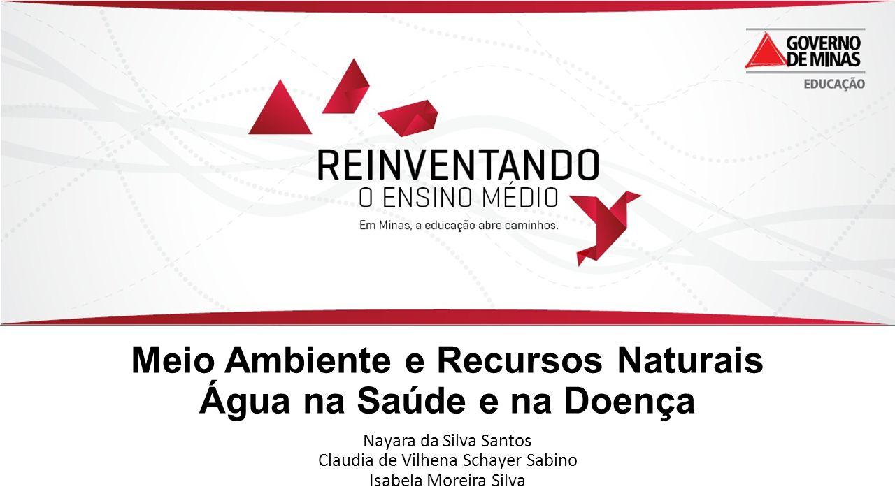 Meio Ambiente e Recursos Naturais Água na Saúde e na Doença Nayara da Silva Santos Claudia de Vilhena Schayer Sabino Isabela Moreira Silva