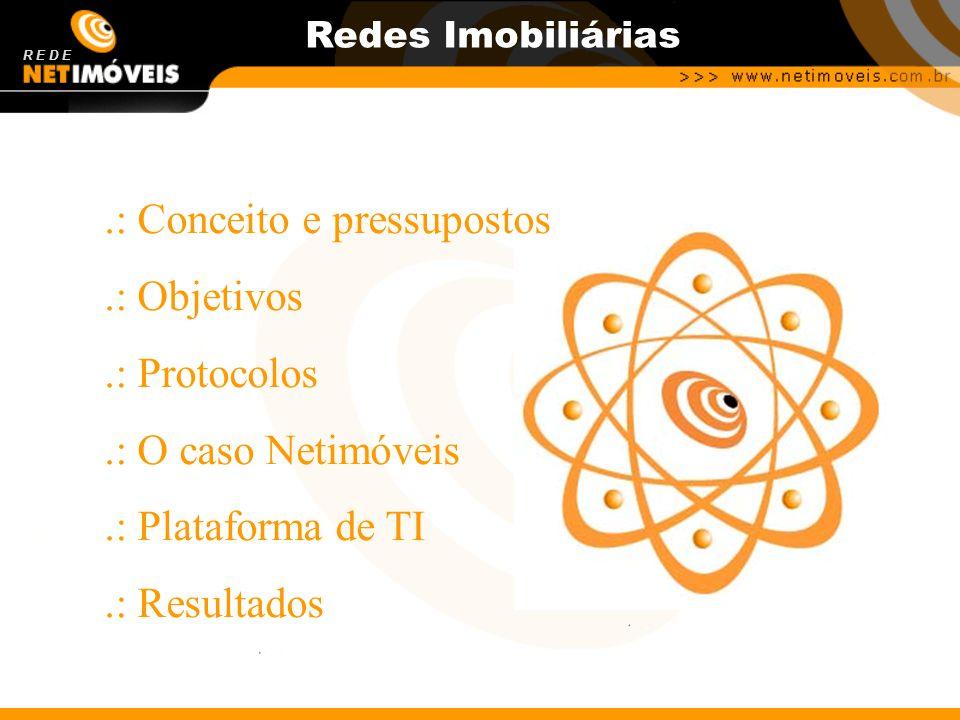 Redes Imobiliárias.: Conceito e pressupostos.: Objetivos.: Protocolos.: O caso Netimóveis.: Plataforma de TI.: Resultados R E D E