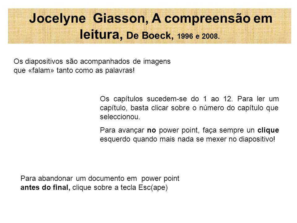 Os diapositivos seguintes propõem o índice do livro: cada um deve clicar sobre o número do capítulo que deseja ler.