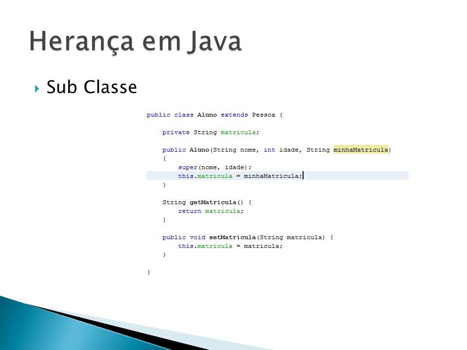  Em Java existem o seguintes modificadores de acesso  public ◦ Um método definido como Public pode ser acessado por qualquer classe de qualquer projeto  private ◦ Este modificador é o mais restrito, somente a classe onde ele foi definido é que pode acessá-lo, nenhuma outra tem permissão, nem mesmo as classes que herdam da classe onde o método foi definido.