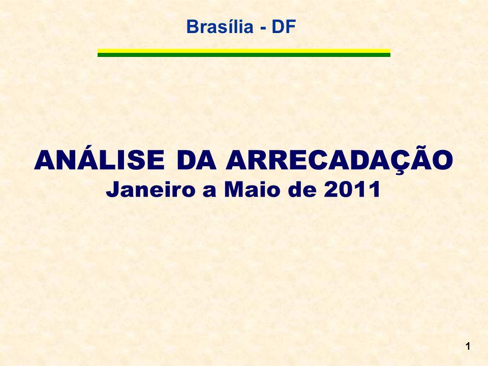 Brasília - DF 1 ANÁLISE DA ARRECADAÇÃO Janeiro a Maio de 2011